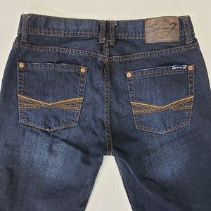 Seven7 Boot Cut Men's Dark Wash Jeans 32x32